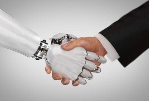 robot and human handshake 768x520