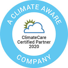 ClimateCare Climate Aware Accreditation Datagraphic sustainability