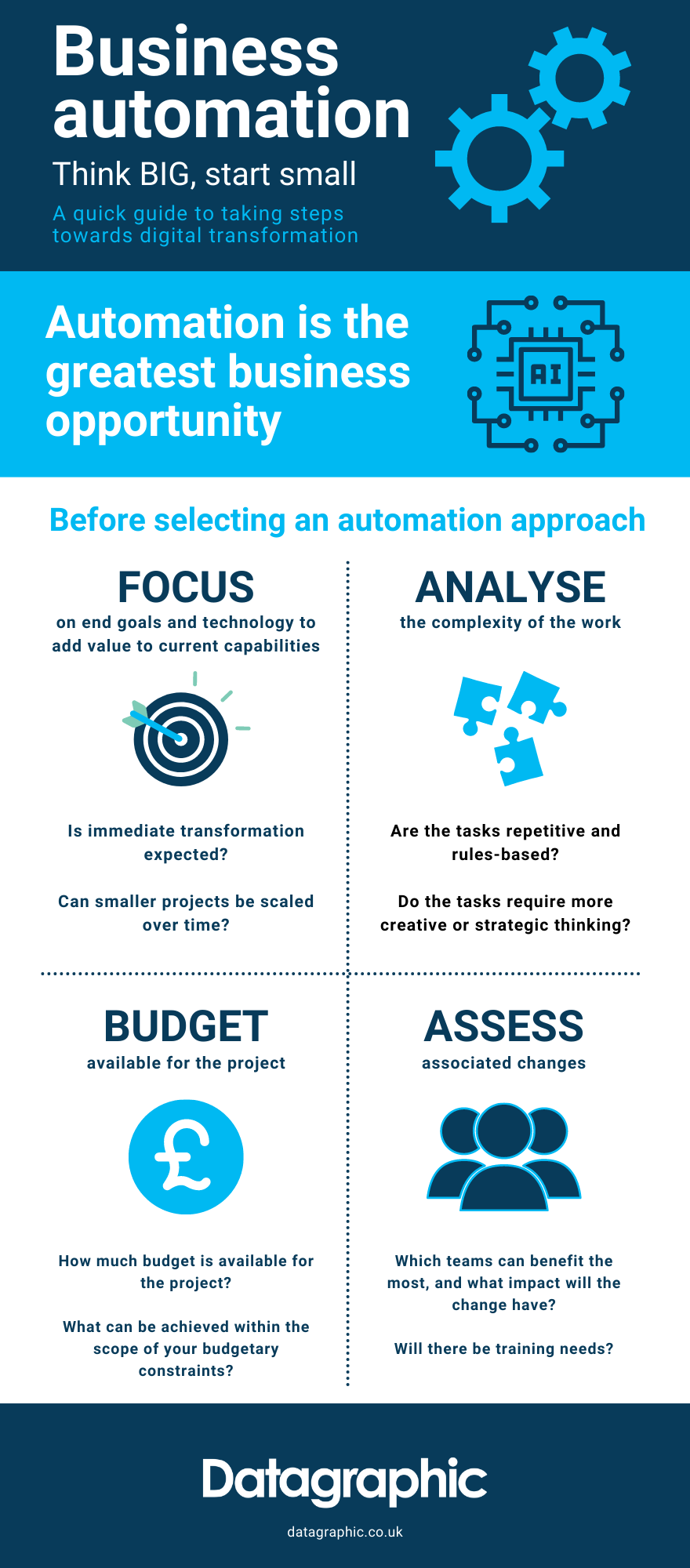 Business Automation Think Big Start Small Infographic